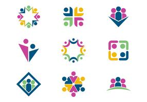 Free Working Together / Teamwork Logo Vectors