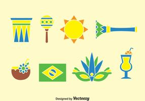 Samba Element Icons Vector