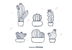 Free Hand Drawn Cactus Vector