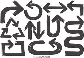Vector Collection Of Sketch Arrows