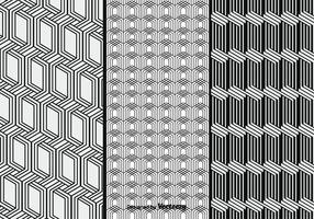 Monochrome Vector Patterns Set