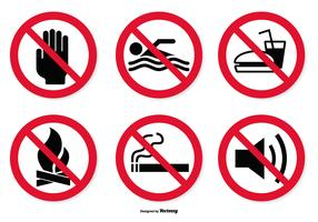 Prohibited Icon Set