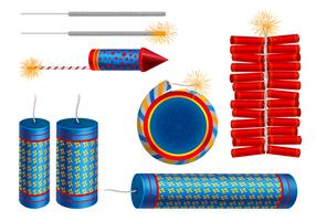 Fire Cracker Vector Set