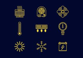 Free Heating Line Icons Vector