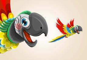 Flying Parrot Illustration