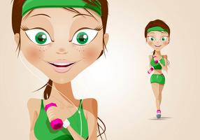 Sporty Girl Character