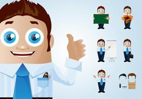 Funny Businessman Character Set