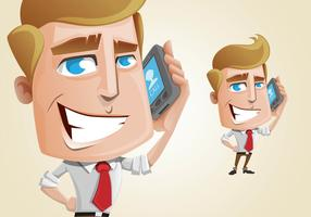 Handsome Businessman Character