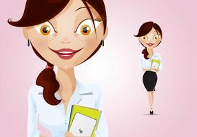 Beautiful Businesswoman Character