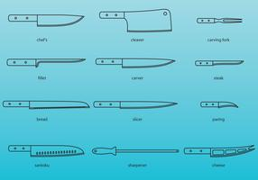 Kitchen Knives Icons