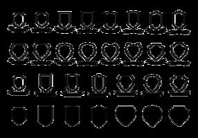 Blason / shield / ribbon vector  template