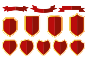 Blason / shield / ribbon vector