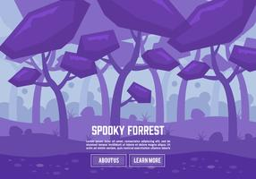 Free Flat Spooky Forrest Vector Background