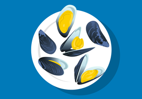 Vector Mussel Plate