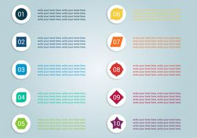Free Number Bullet Points Vector