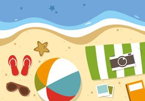 Free Flat Summer Travel Vector