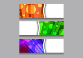 Free Vector Colorful Header