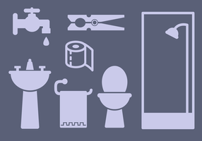 Free Bathroom Elements Vector