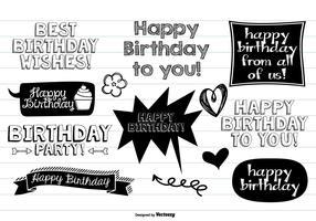 Happy Birthday Doodle Set