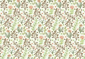 Free Vector Doodle Floral Background