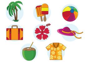 Set Of Hawaii Vector