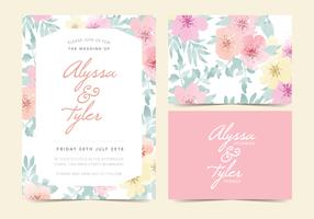 Floral Vector Wedding Invite