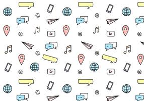Free Social Media Pattern Vector