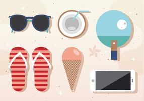 Free Vector Summer Components