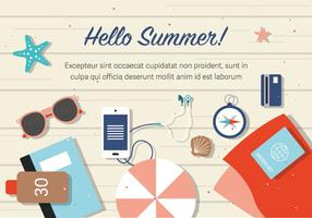 Free Summer Beach Background Vector