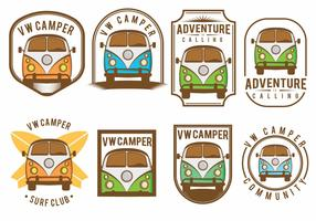 VW Camper Badge Set