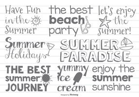 Cute Hand Drawn Beach/Summer Labels