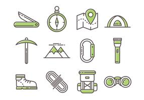 Free Mountaineer Line Icons