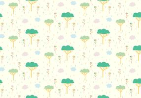 Tree Plants Pastel Pattern