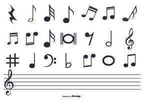 Music Notes Set