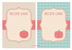 Cute Recipe Cards Set