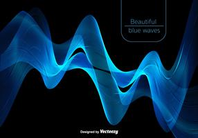 Abstract Beautiful Blue Waves - Vector
