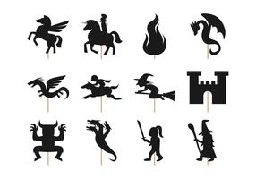Free Fairy Tale Shadow Puppet Vector