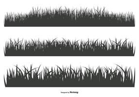 Grass Silhouette Shapes