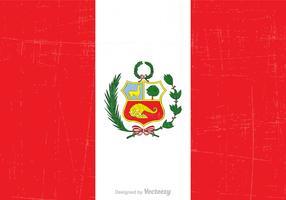 Free Grunge Peru State Flag Vector