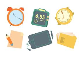 Time Is Money Vector Set