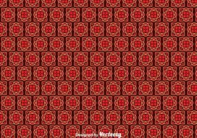 Red Portuguese Tiles Pattern