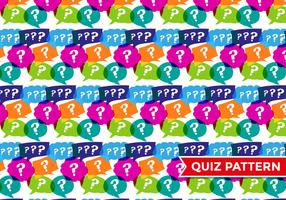 Trivia Quiz Pattern Vector