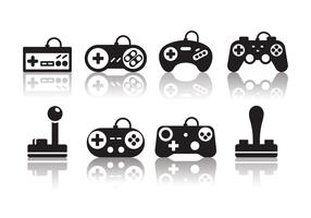 Free Minimalist Gaming Joystick Icons