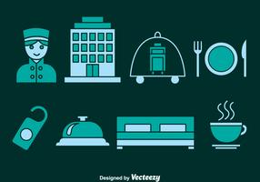 Hotel Element Icons Vector