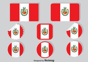 Peru Flag Collection Set