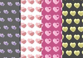 Vector Heart Patterns