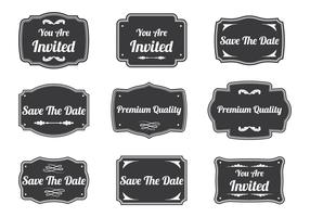 Vintage Cartouche Label Vectors