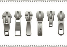 Free Steel Zipper Pull Vector