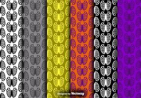 Rib Cage Icon Colorful Seamless Patterns Vector Set