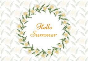 Free Vector Watercolor Summer Background